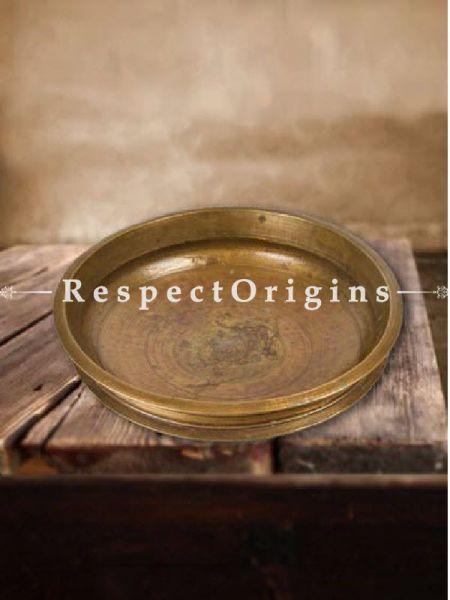 Buy Round Solid Brass india Urli, 15.9 Inches At RespectOrigins.com