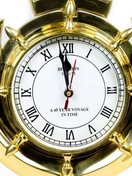 Buy Solid Brass Times Wall Clock Anchor; Nautical Maritime Themed Home Wall Decor Clock Gift At RespectOrigins.com