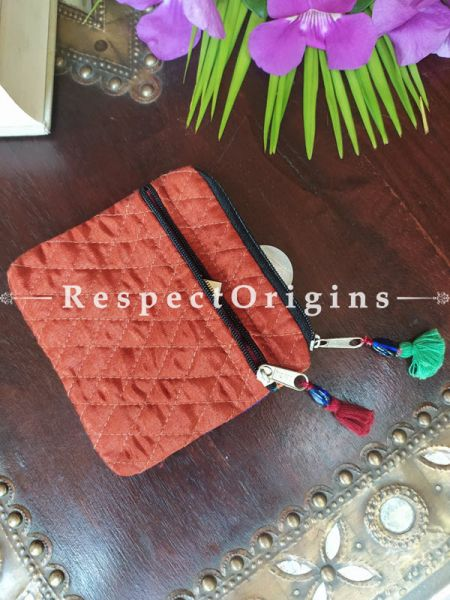 Buy Boho Suf Embroidered Coin or Makeup Purse Bag with Zipper and Tassle  at RespectOrigins.com