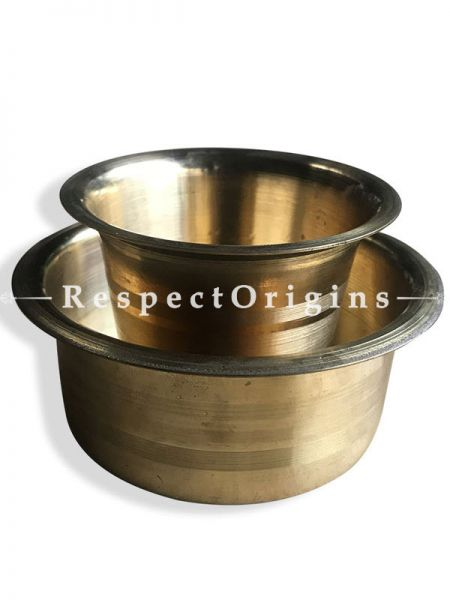South Indian Coffee Brass Filter Handmade Tumbler Cup Set or Pure Brass Kappi Set of 2); RespectOrigins.com
