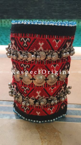 Splendid Tribal matrix Anklet, German Silver, RespectOrigins.com