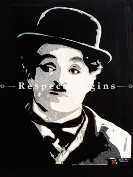 Buy Charlie Chaplin Thread Painting; Size 24x24 in At RespectOriigns.com