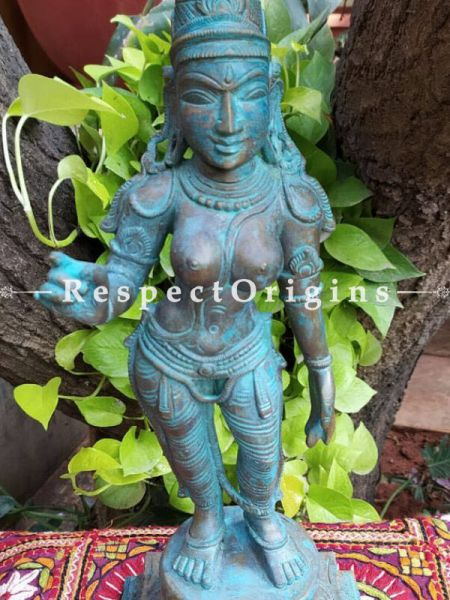 Buy Stately original Bronze Statue of Chandikeswaran; Bronze; 18 Inches At RespectOrigins.com