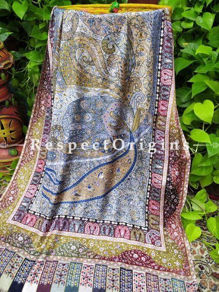 Designer Fine Rich Formal Silken MultiColor Stoles for Work Wear or Evening Wear;Length 80 x 30 Width Inches.; RespectOrigins.com