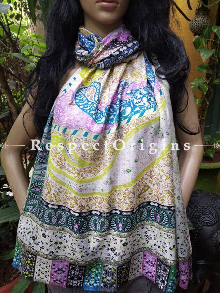MultiColor Designer Fine Luxury Formal Silken Stoles for Work Wear or Evening Wear;Length 80 x 30 Width Inches.; RespectOrigins.com