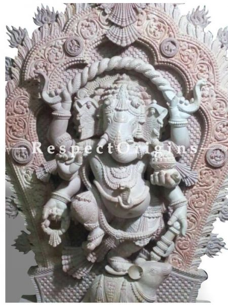 Buy Ganesha - Carved in White Soap Stone |RespectOrigins
