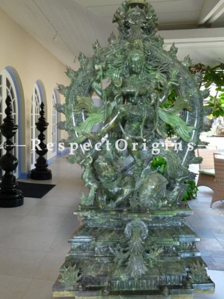 Buy Collector's Piece! Intricately Carved Green Stone Dancing Shiva Or Nataraja. |RespectOrigins