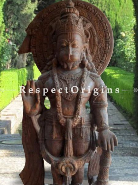 Buy Unique Stone Anjaneya Hanuman Orissa Pink Statue For Outdoors Or Indoors. |Respectorigins