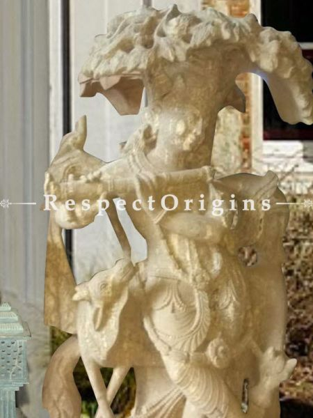 Buy Classic Stone Statue Of Krishna In Tribhangi Mudra Pose For Foyer |Respectorigins