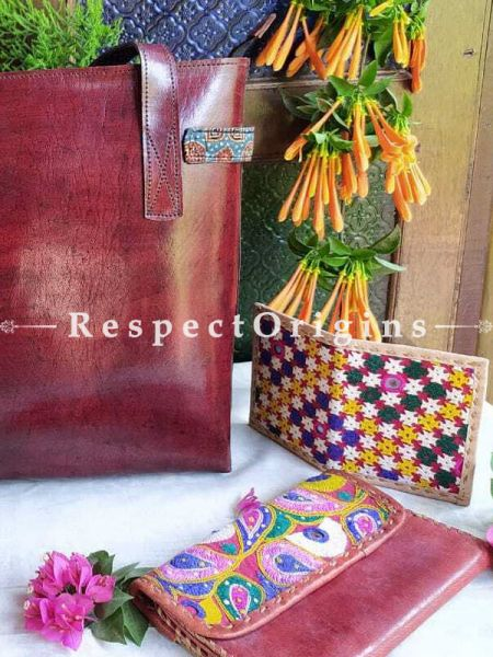 Stylish Hand-stitched Brown Leather Ladies Bags; RespectOrigins