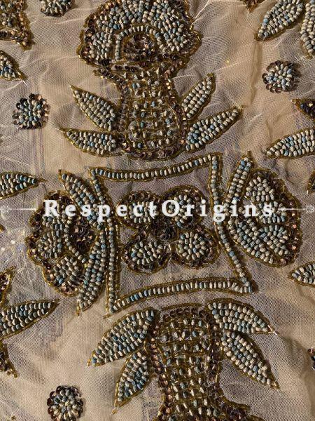 Lovely Table Runner on Cream Net with Beadwork, 80x40 in; RespectOrigins.com