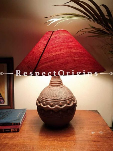 Buy Brown Round Terracotta Table Lamp At RespectOrigins.com