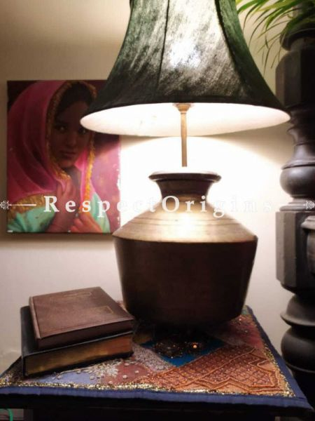 Buy Round Terracotta Table Pot Lamp At RespectOrigins.com