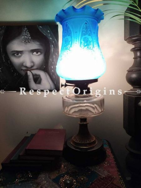 Buy Vintage Hand blown Glass Table Lamp At RespectOrigins.com