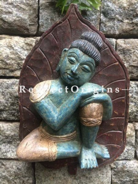 Buy Buddha Statue, Tamil Nadu Wood Craft Online at RespectOrigins
