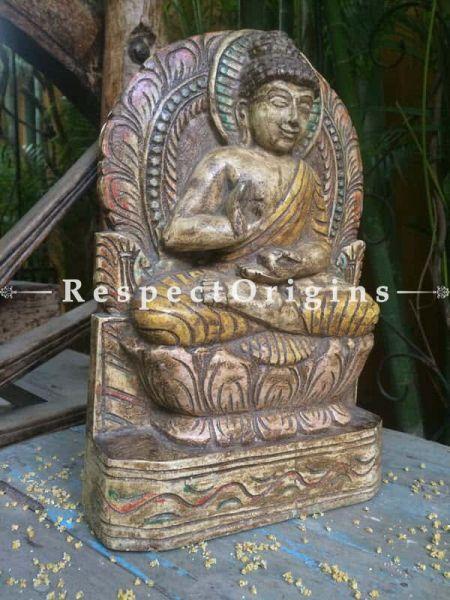 Buy Buddha Statue; Tamil Nadu Wood Craft Online at RespectOrigins