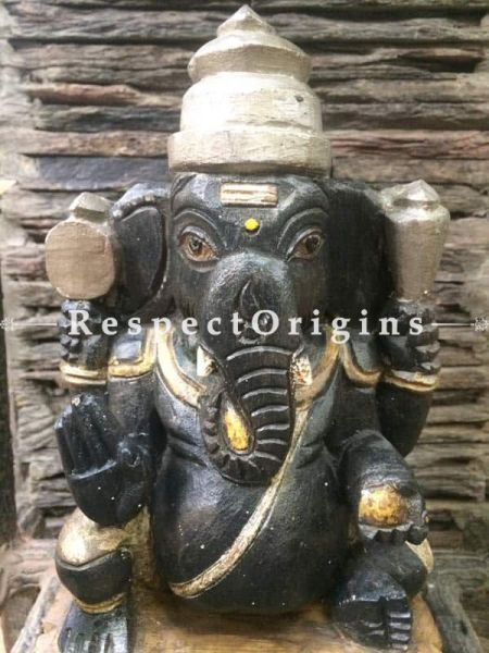 Buy Ganesh Statue, Tamil Nadu Wood Craft Online at RespectOrigins.