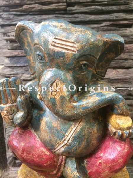 Buy Ganesh Statue, Tamil Nadu Wood Craft Online at RespectOrigins