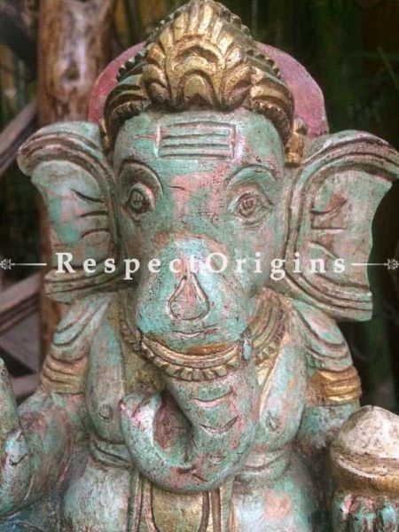 Buy Ganesh Statue; Tamil Nadu Wood Craft at RespectOrigins.com