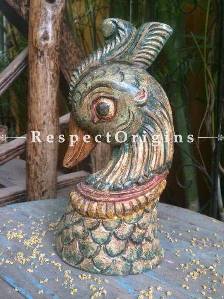 Buy Peacock; Tamil Nadu Wood Craft Online at RespectOrigins. com