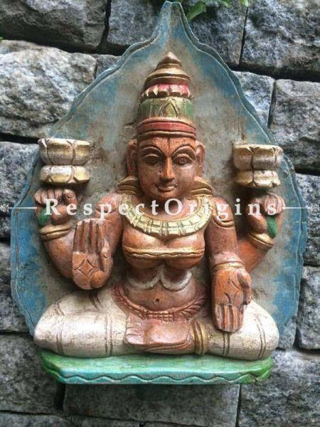 Buy Saraswati Idol; Tamil Nadu Wood Craft Online at RespectOrigins