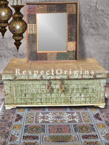 Buy Antique Printing Block Mirror Frame in Reclaimed Teak Wood; Distressed Vintage Upcycled Design At RespectOrigins.com
