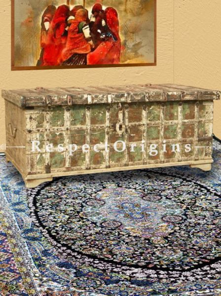 Buy Nature in your Living Room! Distressed Teak Vintage Coffee Table Cum Storage Chest Trunk At RespectOrigins.com