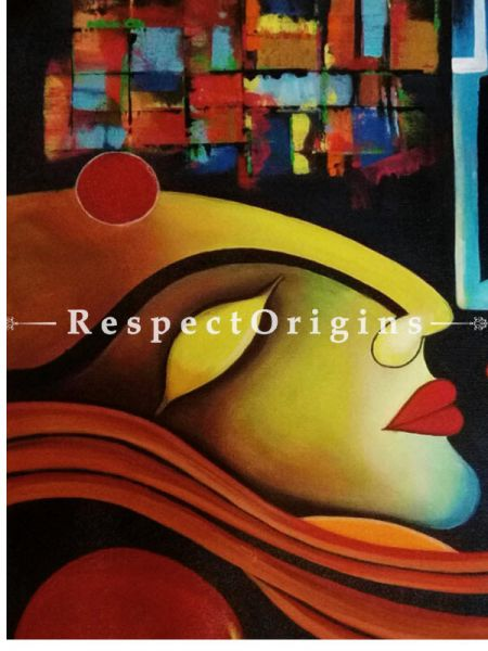 Love Deep Strong Pure; Painting - 28In x 30In Acrylic On Canvas.
