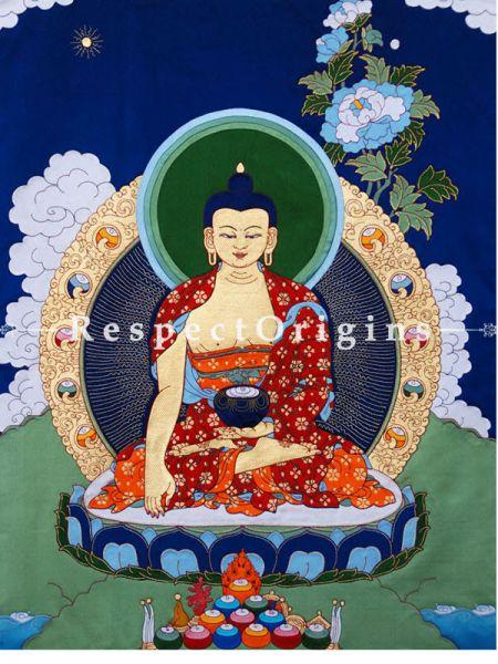 Buy Buddha Shakyamuni-Traditional Tibetan Silk Applique Work Wall Art Online at RespectOrigins.com