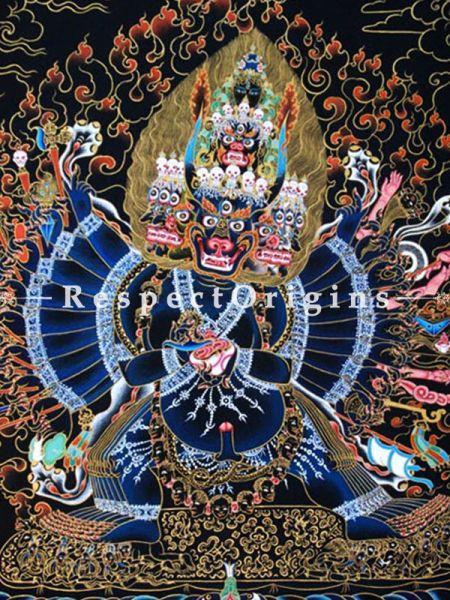 Buy  Vertical Large Tibetan Thangka Painting at RespectOrigins.com