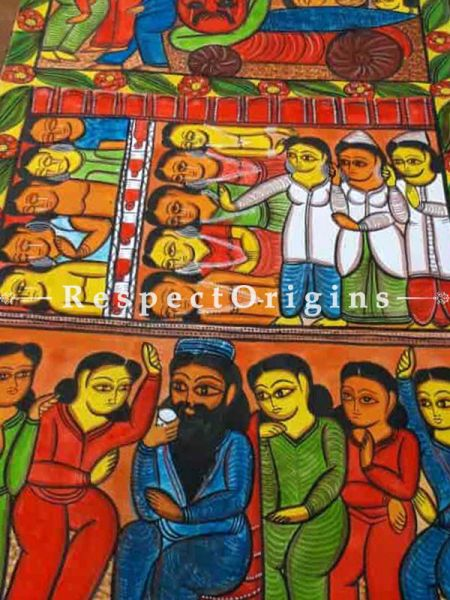 Kalighat Painting|Buy Kalighat Painting online|Kalighat Pat|Trditional painting|Folk painting|Kalighat Patachitra painting-at RespectOrigins.com