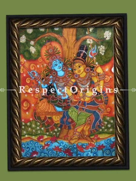 Radha Krishna Kerala Wall Mural Painting