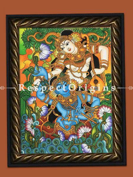 Kerala Mural Painting of Radha and Krishna