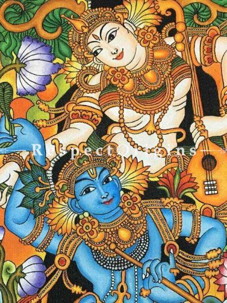Buy Kerala Mural Painting of Radha and Krishna |Respectorigins