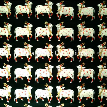 Buy Traditional Pichwai Painting of Krishnas Cows 30 x 30 inches RespectOrigins