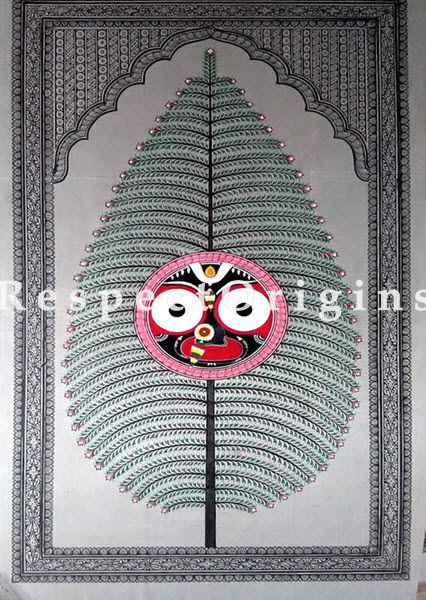 Buy Tree of Life And Mahabaahu Pattachitra Katha tree of life and Mahabaahu Pattachitra Painting Canvas Large Vertical Folk Art of Odisha 30x18; RespectOrigins.com