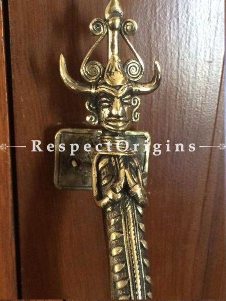 Buy Collectible Vintage Finish Bastar Art Dhokra Brass Tribal Designed Door Handle; Handcrafted Door Accessories At RespectOrigins.com