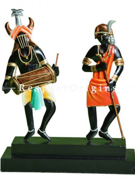 Buy Tribal Musician Figurine in Wrought Iron; 11x5x3 in At RespectOrigins.com