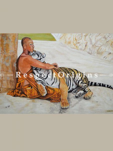 True Friendship 3 Water Colors Rolled Canvas|Buy True Friendship 3Water Colors Rolled Canvas Painting Online|RespectOrigins