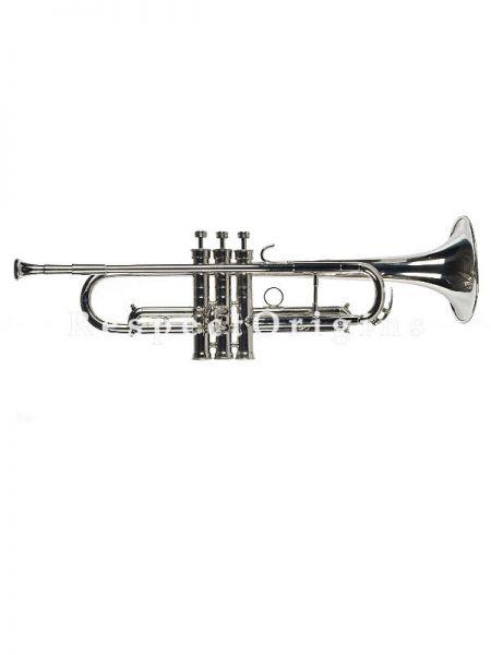 Brass Nickel Coated Trumpet, Silver,Galaxy 67G; Indian Musical Instrument; RespectOrigins.com