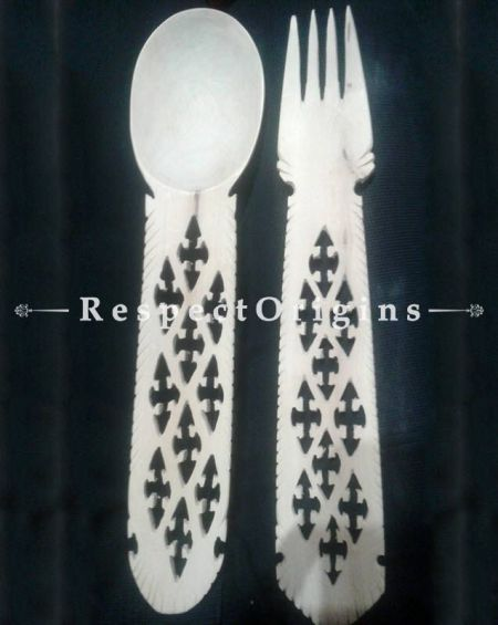 Buy Udayagiri Wooden Kitchenware; Designer Spoon and Fork Pair At RespectOrigins.com