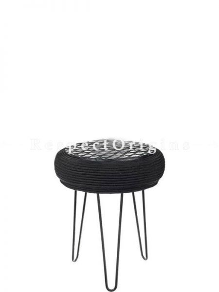 Buy Upcycled Black Tyre, Wood and Iron Tyre Table At RespectOrigins.com