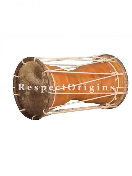 Urumi in Jack Fruit Wood Body With Face in Leather; Indian Musical Instrument; RespectOrigins.com