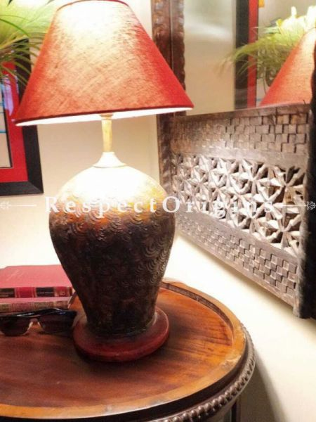Buy Vase Shaped Terracotta Table Lamp At RespectOrigins.com