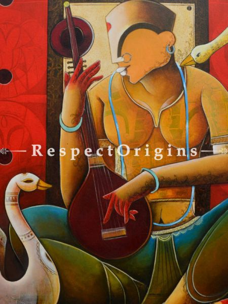 Buy Veenavani; Acrylic On Canvas Painting; 36 X 42 Inches  at RespectOrigins.com
