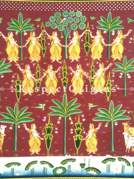 Buy Vertical Pichwai Painting of Dancing Gopies in 48 x 45 in size  Respect Origins