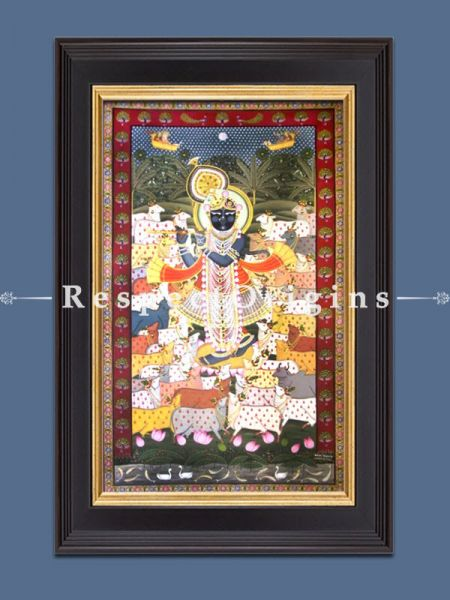 Buy Vertical Pichwai Painting of Gopashtmi in 60 x 36 in size  Respect Origins