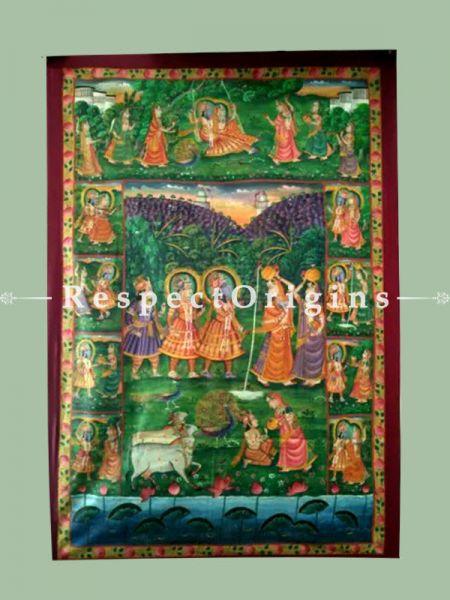 Pichwai Painting of Krishna Lila; 70 x 46 inches