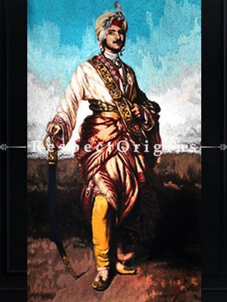 Buy Elegant thread painting; Maharaja Dalip Singh; 24x18 in. At RespectOriigns.com