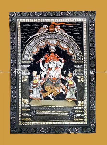 Vighanharta Pattachitra Katha Vighanharta Pattachitra Painting Canvas Large Vertical Folk Art of Odisha 19x13
